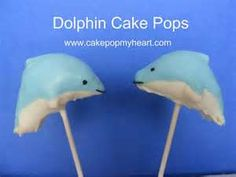 Dolphin Cake Pops For Those Who Love The Ocean Or Dolphins These