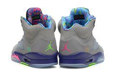 """Air Jordan 5 Retro """"Bel-Air"""" Cool Grey/Club Pink-Court Purple-Game ..."""