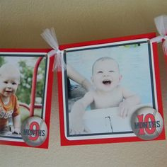 Baseball 1st year Photo Birthday Party Banner