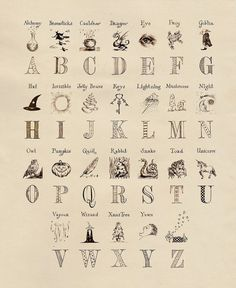 The Magic Alphabet was a poster of the alphabet used to inform wizarding children of the alphabet. Lily Evans and James Potter bought their son Harry one, and hung it in Harry's bedroom at Godric Rowling Harry Potter, Harry Potter Film, Harry Potter Kunst, Magie Harry Potter, Classe Harry Potter, Arte Do Harry Potter, Harry Potter Spells, Harry Potter Drawings, Theme Harry Potter