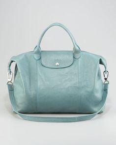 Want this bag sooooooo bad!!!   Le Pliage Cuir by Longchamp
