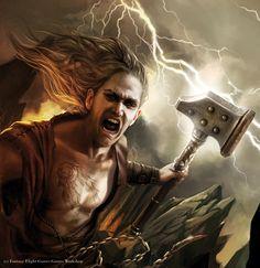 Magali Villeneuve Portfolio: Warhammer Invasion LCG : Descendant of Gods