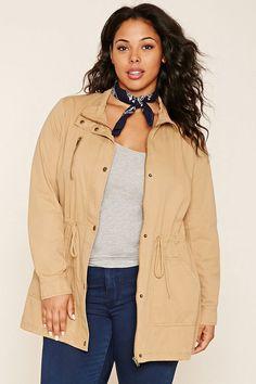 FOREVER 21+ Plus Size Drawstring Jacket