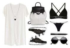 """""""Need this bag !!"""" by baludna ❤ liked on Polyvore featuring LnA, NIKE, Alexander Wang, House of Harlow 1960, T By Alexander Wang, Christies and NARS Cosmetics"""