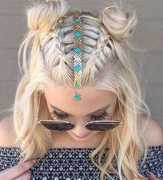 Festival hair inspiration.