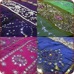 Moroccan Bedding | These bed spreads are made of old Indian Saree with visible hand ...