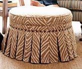 How To Make a No-Sew Round Ottoman