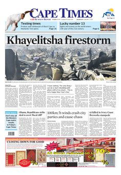 Now you can follow Cape Times on Pinterest. Pin all the Front Pages and more...