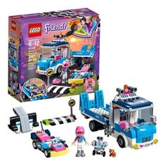 The Lego Friends 41348 Service & Care Truck features a tipping tow truck and a workshop platform with lifting function, Olivia's go-kart, and go-kart launcher. Halloween Costume Shop, Halloween Costumes For Kids, Lego City, Legos, Lego Friends Sets, Karts, Trucks Only, All Lego, Lego Lego