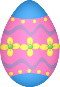 Blue and Pink Easter Egg Clipart