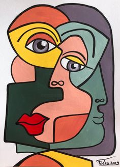 28 26 Painting Acrylic by Laurent Folco France Prints available from 28 26 via Kunst Picasso, Picasso Art, Picasso Paintings, Acrylic Paintings, Art Paintings, Abstract Face Art, Cubist Art, New Art, Sculpture Art