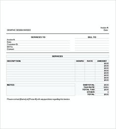 Wedding Photography Invoice Templates  Photography Invoice