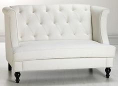 Home Decorators Collection Morgan in. W Settee Sofa in Ivory 0552500440 - The Home Depot Furniture, Living Room Sofa, Love Seat, Bedroom Couch, Classic Sofa, Settee Sofa, Home Decor Sale, Home Decorators Collection, Mini Couch