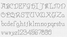 Free Cross Stitch Pattern: Cursive Backstitch Alphabet