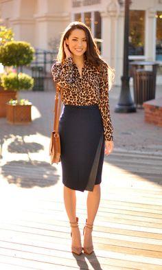 Look Animal Print: Camisa