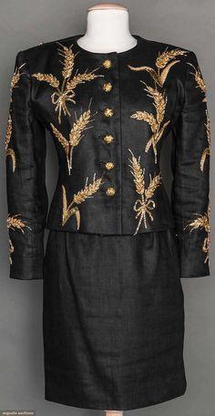 Gold Beaded Saint Laurent Suit, 1980s