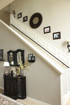 Light Greige for Entryway & Halls- Must have white wainscoting...
