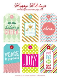 the life and designs of the spotted olive™: {printable freebie} holiday gift tags