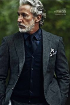 Some of us like distinguished men. Grey hair can be soooo sexy!  Agreed...and that swag is really hot!!!
