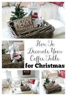 More click [.] Minimalist Christmas Coffee Table Centerpiece Ideas Christmas Vignette Christmas Coffee Table Decor Amazing Coffeetable Mgmfocuscom Dovetail Coffee Table 2019 Hollywood At Home Peter Dunham Outdoor Coffee Table Centerpieces, Christmas Centerpieces, Christmas Decorations, Table Decorations, Centerpiece Ideas, Farmhouse Christmas Decor, Rustic Christmas, Christmas Fun, Coffee Table Decor Living Room