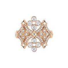 Dentelle de Monogram pink gold ring