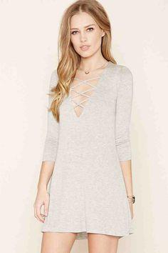 Crisscross-Front Mini Dress