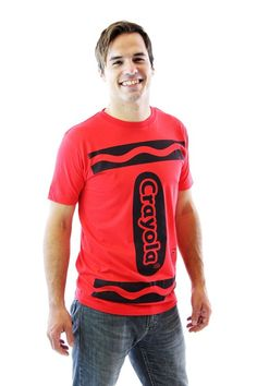 Crayola Crayon Adult Costume T-shirt  sc 1 st  Pinterest : red crayon costume  - Germanpascual.Com