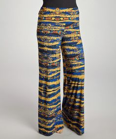 Take a look at this Blue Palazzo Pants - Plus by CANARI on #zulily today!$29.99