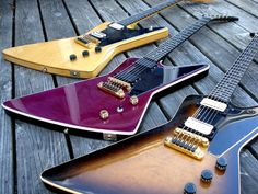 Gibson Explorer E/2 1979 - 1984 Walnut or Mahogany, Maple, Ebony There's a lot of confusion over the Explorer model of the early eighties. The model went through a chaotic evolution process, changing...
