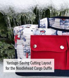 Yardage Saving Cutting Layout for the Cargo Duffle