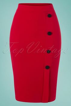 Vintage Chic for TopVintage Ginny Pencil Skirt in Lipstick Red - Ropa de moda - Lipstick Pencil Dress Outfit, Pencil Skirt Outfits, Pencil Skirt Black, Pencil Skirts, Classy Work Outfits, Classy Dress, Stylish Outfits, Office Outfits, African Fashion Skirts