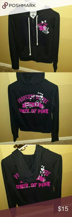 Pink Victoria's secret hooded jacket Pink Victoria's secret hooded jacket. It is in very good condition. Size small PINK Victoria's Secret Jackets & Coats