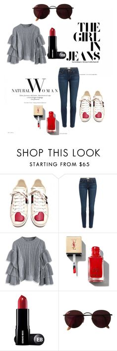 """""""Style"""" by darnelll ❤ liked on Polyvore featuring Gucci, Paige Denim, Chicwish and Ray-Ban"""