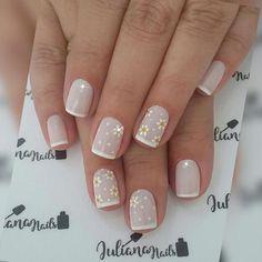 27 Modelos de Unhas com esmalte Branco Cute Acrylic Nails, Fun Nails, Pretty Nails, Gel Nagel Design, French Tip Nails, French Manicures, Girls Nails, Manicure E Pedicure, Dream Nails