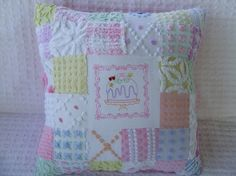 vintage chenille patchwork
