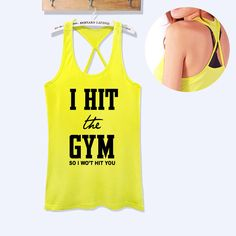 fitness workout gym tank top i hit the gym so i won't by TeeforRun