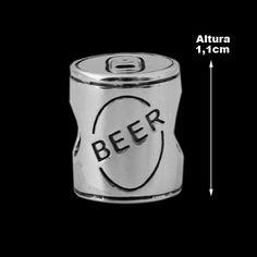 Berloque de Prata Lata de Cerveja (Pulseira Memories).