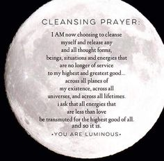 Cleansing prayer...I AM Luminous!