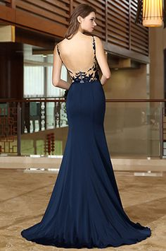 d70188331762 eDressit Blue Mermaid Evening Dress with Lace Appliques (02165805)  Meerjungfrau, Blaues Abendkleid,