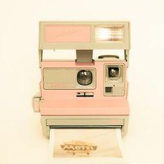 Polaroid camera photograph vintage camera pastel pink by bomobob