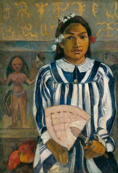 Paul Gauguin: The Ancestors of Tehemana, Tehamana Has Many Parents (Merahi metua no Tehamana) 1893