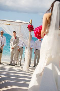 Beautiful wedding canopy and flower details  in Turks & Caicos. Photo Credit: brilliantstudios.com