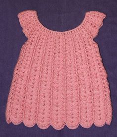 Crochet Baby Dress  12 Months  Baby Dress Crocheted Baby