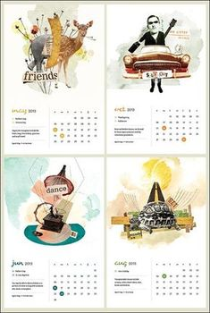 50 Cool and Unique Calendar Designs 2013 Table Calendar Design, Calendar Layout, Art Calendar, Calendar 2020, Graphic Design Magazine, Magazine Design, Graphic Design Brochure, Graphic Design Calendar, Web Design