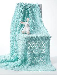Yarnspirations.com - Bernat Crochet Baby Blanket - Patterns   Yarnspirations/ 3 balls Bernat Softee Baby.