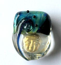 ocean man  lampwork bead