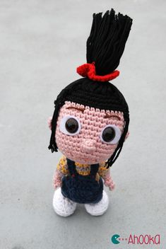Agnes (Despicable me) Amigurumi by Ahooka - (in French & English) - with links to minion and fluffy unicorn