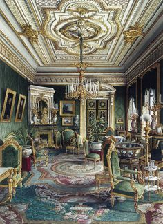 Jules Mayblum   Palace Of Count P. S. Stroganov. Drawing Room (1865).
