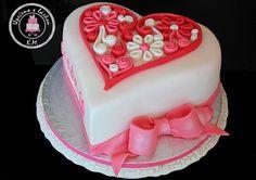 Quilling Heart + Heart Cake Pops - Cake by Tynka
