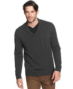 Marc New York Sweater, Shawl Collar Cotton Sweater - Mens Sweaters - Macy's